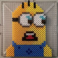 Minion perler beads by missamysue