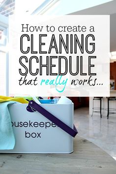 Step by step easy to follow guide to creating a cleaning schedule that works - totally custom to you and your homes needs so you have more time and less stress when it comes to cleaning your house