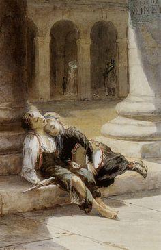 Augustus Edwin Mulready: Tired Minstrels