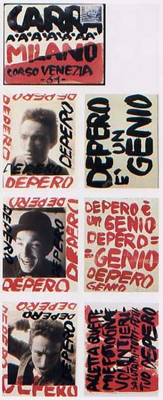 "Fortunato Depero - ""Depero is a genius"" (1915)"