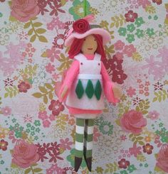 Strawberry Shortcake Clothespin Doll Ornament by LittleParade, $12.00