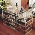 Ikee Design Luxury Cosmetic Make Up Organizer With Two-Sided Mirror - Free Shipping On Orders Over $45 - Overstock.com - 18660153 - Mobile