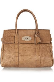 Mulberry   The Bayswater croc-effect leather bag   NET-A-PORTER.COM
