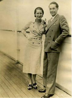 Irving Thalberg and Norma Shearer. #vintage #1930s