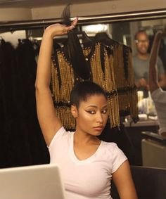 Nicki Minaj Shows Off Her Natural Hair / March 27th, 2014 / http://www.naturallycurly.com/curlreading/kinky-hair-type-4a/nicki-minaj-shows-off-her-natural-hair-in-a-photoshoot