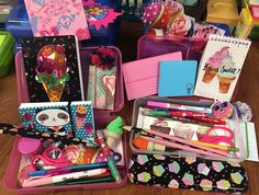 """These pencil boxes will have school supplies with a """"sweets"""" theme. Operation Christmas Child, Pencil Boxes, Shoe Box, Kids Christmas, School Supplies, Charity, Children, Sweets, School Stuff"""