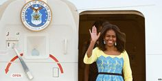Michelle Obama begins two-day UK visit to promote her charity work http://bbc.in/1Gpme3b