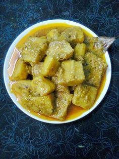 Easy Cooking and More: Healthy Veg. Banana Curry, Raw Banana, Bangladeshi Food, Bengali Food, Easy Cooking, Cooking Time, Cooking Recipes, Food Dishes, Side Dishes