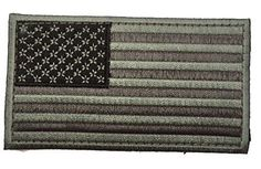 Tactical Velcro Metallic USA Flag Embroidered Patch - By Patch Squad