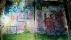 Journal Page Buildings Journal Pages, Buildings, My Arts, Painting, Painting Art, Paintings, Paint, Draw