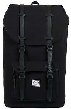 Herschel Supply The Little America Backpack in Black Canvas