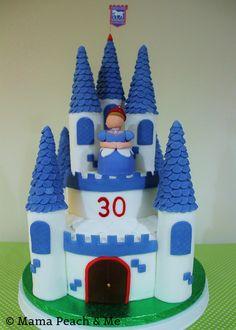 Ipswich FC Princess Castle cake 2-tier chocolate sponge with sugarpaste turrets and princess figure