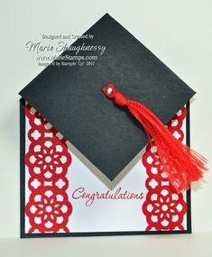 Graduation Cap Fancy Fold by Card Shark - Cards and Paper Crafts at Splitcoaststampers
