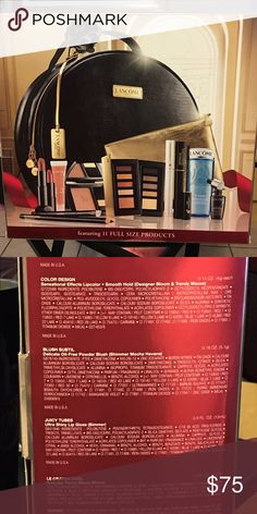 Lancôme beauty set NEW - Lancôme holiday case with warm palate including 11 full size products (all products are untouched) Lancome Makeup
