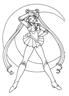 Sailor Moon Series Coloring Pages: Sailor Moon