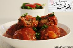 Mamma's Cheesy Tomato Meatballs. An absolutely delicious family meal! Easy dinner recipe.