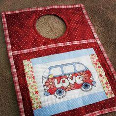 porta lixo para carro. www.bordandoosete.blogspot.com
