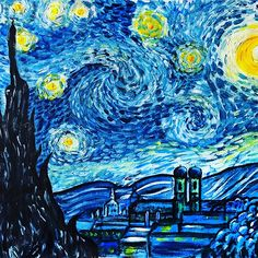 Paint like Vincent Van Gogh  Unsere Künstlerin Agi freut sich auf einen tollen Abend mit Euch... Meldet Euch gleich an! Aktuell sind noch Frühbucher-Tickets verfügbar... www.artmasters.de/muenchen  #paintparty #malenlernen #malparty #malparty_muc #malsdirselbst #malen #artmastersmunich #ausgehen #ausgeheninmünchen #mädelsabend