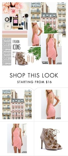 """Yoins Open Back Dress"" by pinki1994 ❤ liked on Polyvore featuring yoins"