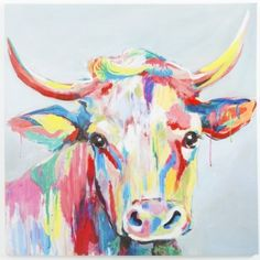 Abstract Ox Head Painting