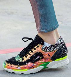 Chanel Fall Winter 2014/2015 | Shoes | Sneakers-very cool synthetic