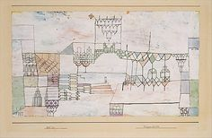 Great Hall for Singers Paul Klee (German (born Switzerland), Münchenbuchsee 1879–1940 Muralto-Locarno) Date: 1930 Medium: Watercolor and gouache on gesso on paper mounted on cardboard
