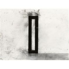 Joel Shapiro, Coal Drawing, Made of Charcoal on paper