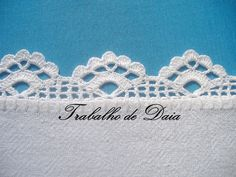 Stunning photo album of tea cloth crochet lace edgings by Daia Corassa. Crochet Boarders, Crochet Edging Patterns, Crochet Lace Edging, Crochet Motifs, Thread Crochet, Love Crochet, Crochet Designs, Crochet Doilies, Crochet Stitches