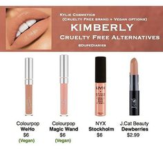 KKW X KYLIE COSMETICS COLLECTION  KIMBERLY DUPES  colourpop vegan nyx jcat beauty  dupes by dupe diaries ( dupediaries )
