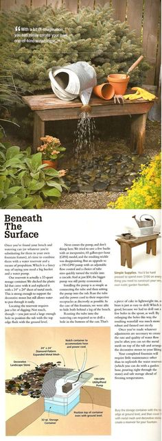 Pondless watering can fountain