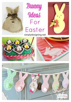 Bunny Ideas perfect for Spring or Easter featured on Simply Designing