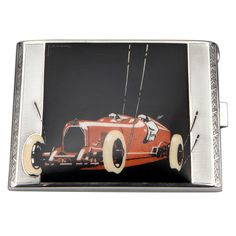 Very rare Racing Car Art Deco Cigarette Case by E. Zwickl ca. 1928-can somebody buy me this?  HA HA.-from 1st DIbs.