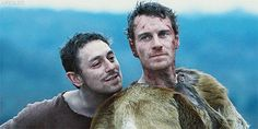 He's hot even when he's covered in blood, dirt  furs.....Centurion