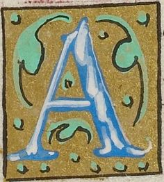 Small decorated initial from the Psalter of Henry VIII (British Library Royal MS 2 A XVI), c1540-1541, letter A f146v