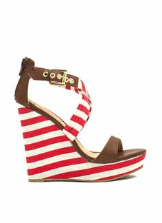 Stripe A Pose Mixed Media Wedges