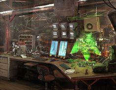 "jpg by -CyberPunk- "" this has been the background image on my tablet since the day I got it. Cyberpunk Kunst, Cyberpunk 2020, Sf Wallpaper, Blade Runner, Spaceship Interior, Sci Fi Environment, Modelos 3d, Futuristic Art, Gears Of War"