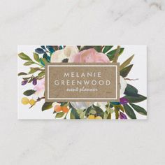 Grow your business with these Vintage Rustic Florals Business Cards. Each business card can be customized to fit your needs by Zazzle! Vintage Business Cards, Modern Business Cards, Custom Business Cards, Business Card Design, Creative Business, Print Templates, Card Templates, Retro Design, Print Design