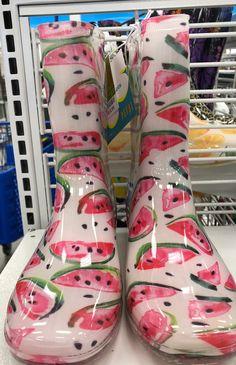 Pink slices of watermelon garden boots