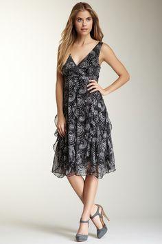 Ruffle Bottom Paisley Print Dress by Papillon on @HauteLook