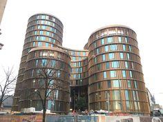 Building konstruktion of new office Overby tivoli and axelborg. Copenhagen, Multi Story Building