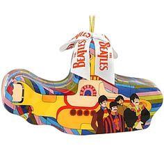 Beatles yellow submarine decoupage ornament $8.99 #Beatles #yellow #submarine #yellowsubmarine #decoupage #ornament #Christmas #BronnersChristmasWonderland #Bronners