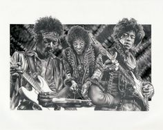 Jimi Hendrix Original Sketch Art Poster Print by by Innerwallz, $15.00