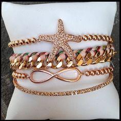 Rose Gold Summer Collection Of Bracelets!