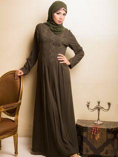 Zigzag modest Abaya | Dibaj Fashion Abayas | 2Hijab