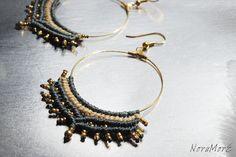 tribal macrame earrings