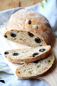 Fűszeres-olívás kenyér teljes kiőrlésű liszttel recept