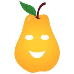 Fruity Party : masque enfant Poire à télécharger. Printable Masks, Free Printables, Vegetable Costumes, Fruit Party, Paper Crafts, Diy Crafts, Busy Book, Babysitting, Masking