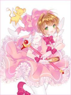 Cardcaptor Sakura | CLAMP | Madhouse / Kinomoto Sakura and Keroberos (Kero-chan) / 「Kinomoto Sakura」/「liechi」のイラスト [pixiv]