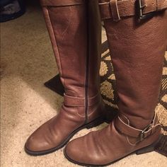Enzo Angiolini boots Enzo Angolini leather boots size 7 in good condition Enzo Angiolini Shoes Over the Knee Boots
