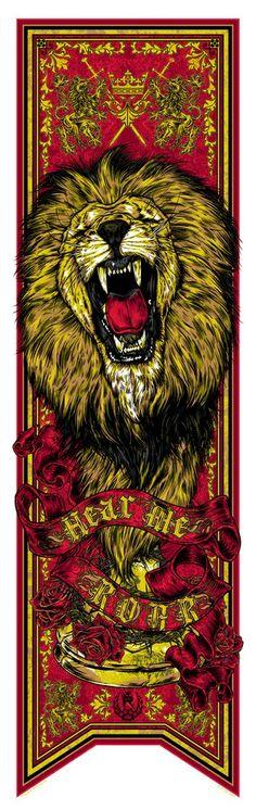 House Lannister banner: Hear Me Roar - Rhys Cooper